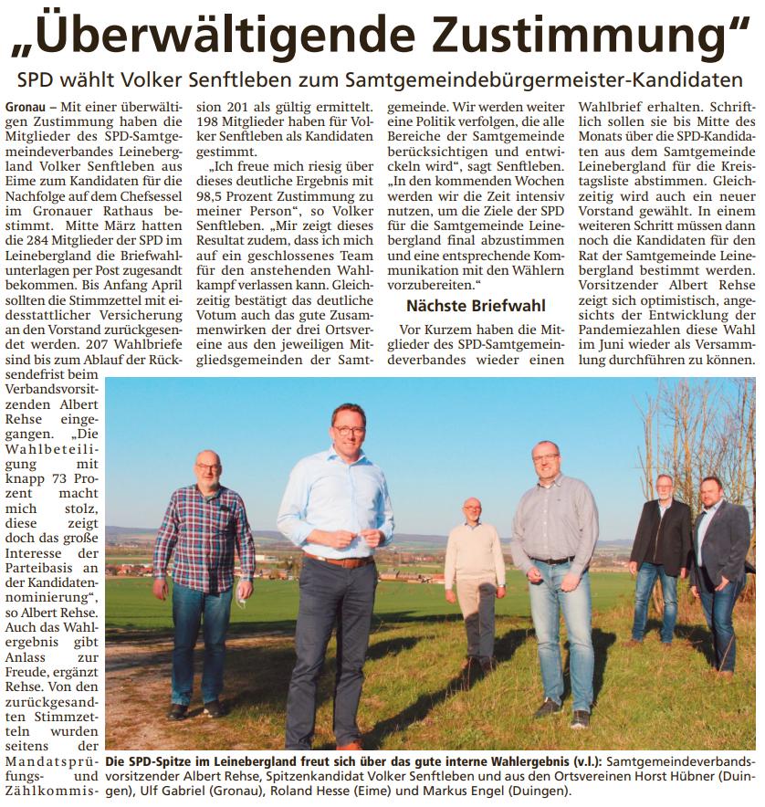 Volker Senftleben ist der SPD Kandidat